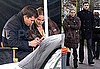 Photos of Joshua Jackson and Diane Kruger on the Set of Fringe