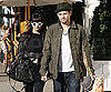 Slide Photo of Nicole Richie and Joel Madden on Melrose