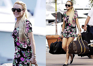 Photos of Lindsay Lohan Leaving St. Bart's With Lots of Luggage in Tow