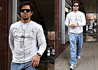 Photos of Mark Wahlberg Running Errands in LA Wearing Sunglasses and Earbuds