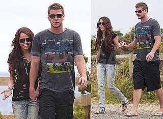 Photos of Miley Cyrus Holding Hands With Liam in Australia