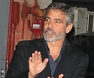 Slide Photo of George Clooney at Dinner in LA