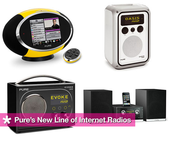 Dive Into Pure's New Line of Internet Radios