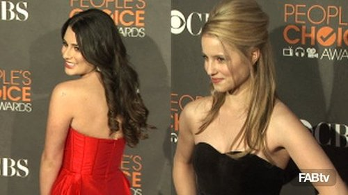 The Girls of Glee Strut Their CelebStyle on the People's Choice Red Carpet