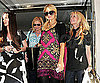 Paris Hilton Leaving Barneys With Friends