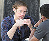 Slide Photo of Alexander Skarsgard Having Lunch in LA