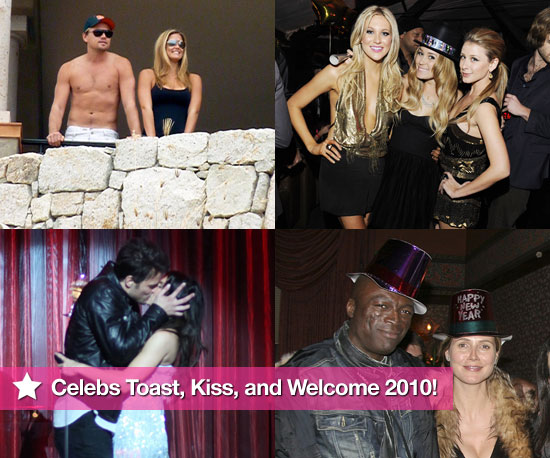 Celebs Toast, Kiss, and Welcome 2010!