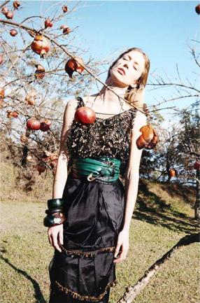 Raquel Poses, Picks Pomegranates for Marc Jacobs Spring 2009