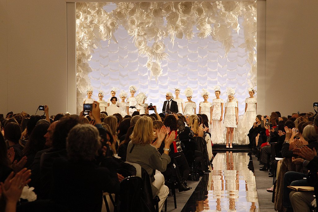 Chanel's Spring 2009 Couture Paper Party Causes Model Fall