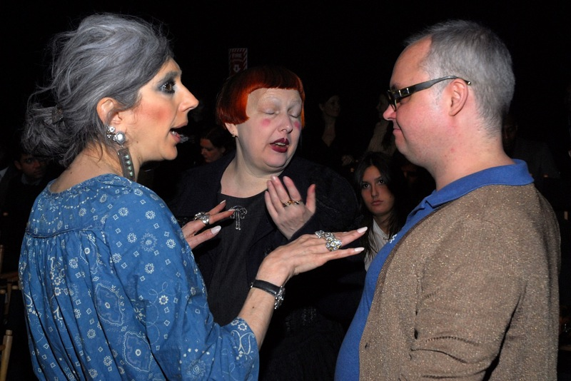 With Editor of Paper Magazine Mickey Boardman and Lauren Ezersky At Duckie Brown Fall 07