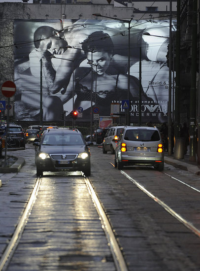 Emporio Armani Underwear Billboards Unveiled In Milan