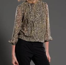 Derek Lam Long Sleeve Pleated Blouse
