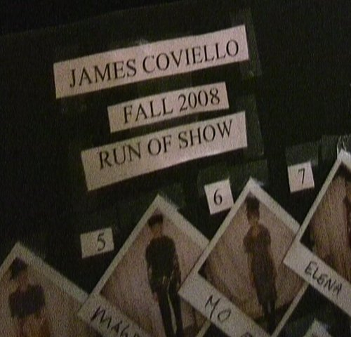Backstage at James Coviello Fall Winter 2008