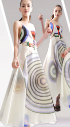 Fendi Circle Pattern Dress