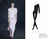 A Spring 2009 look; Sketch for Fall 2009.<BR>