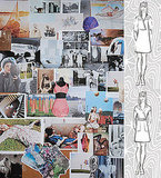 Fall 2009 Inspiration Board; Sketches for Fall 2009.<BR>