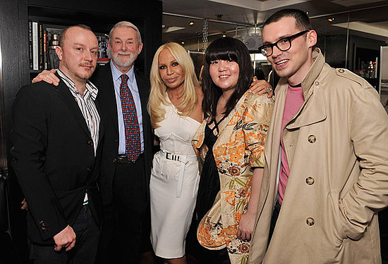 Chris Brooke of Basso & Brooke, Colin McDowell, Donatella Versace, Eun Jeong Hong, Erdem Moralioglu of Erdem