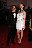 Peter Som with Anne Vyalitsyna in his design