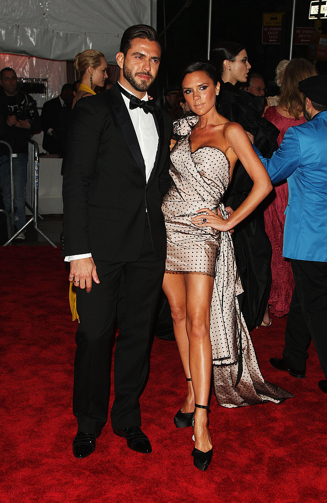 Lorenzo Martone with Victoria Beckham in Marc Jacobs
