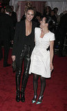 Erin Wasson in Phi with Lady Amanda Harlech in Chanel Couture