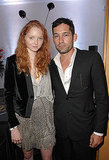 May 18: Lily Cole, in Alberto Ferretti, and boyfriend Enrique Murciano at  the Hollywood Domino tournament