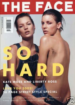 May 2000: Kate Moss and Liberty Ross