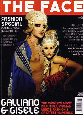 March 2004: John Galliano and Gisele Bundchen