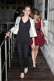 June 5: Charlotte Casiraghi and Eugenie Niarchos at L'Uomo Vogue's Art Issue Opening Party
