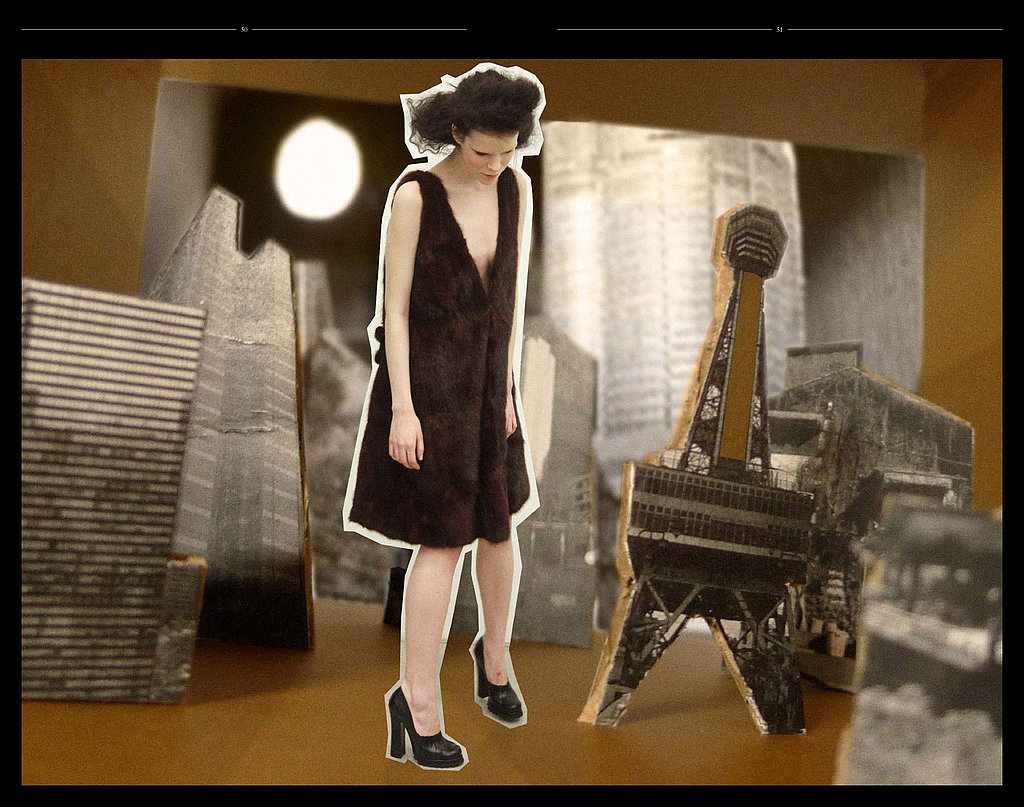 Prada Fall 2009 Lookbook: Doodles, Collages, and Head Substitutes