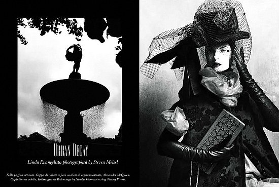 Steven Meisel, Vogue Italia Love Their Ladies Over 40: Linda Evangelista for August 2009; Daphne Guinness to Appear in September