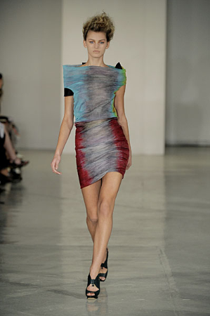 Peter Pilotto Earns Raves for Spring 2010 Signature Watercolor Prints