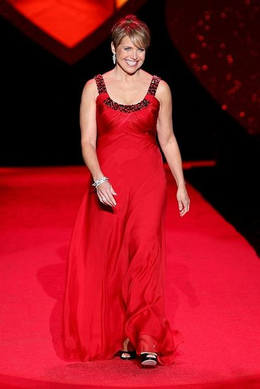 Katie Couric in Carmen Marc Valvo