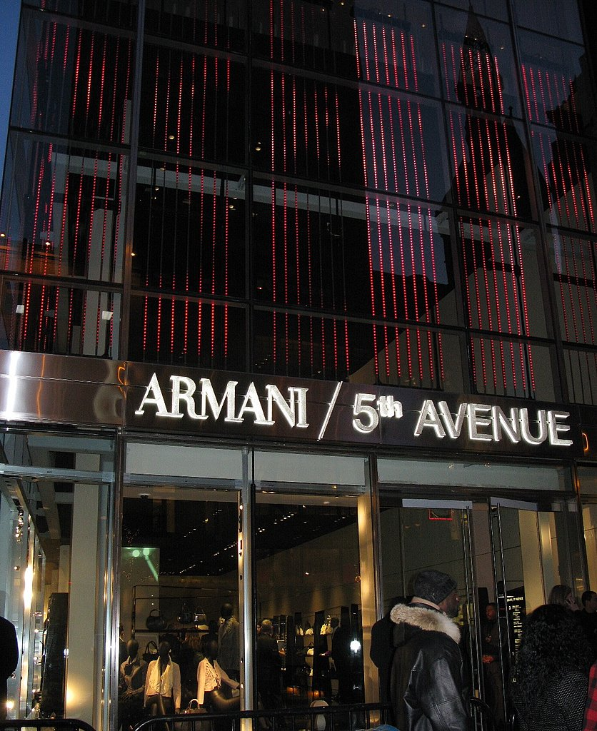 5th avenue new york the most expensive shopping street for Armani store nyc
