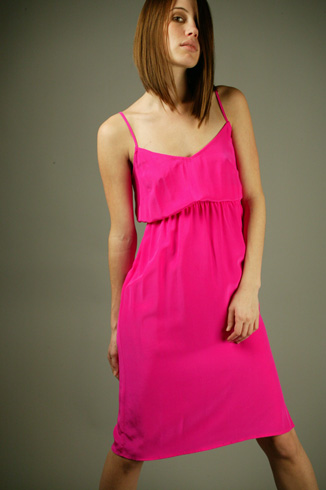 This delicate Twelfth Street by Cynthia Vincent dress ($182 @ Madison LA) would look just right with a boyfriend blazer.