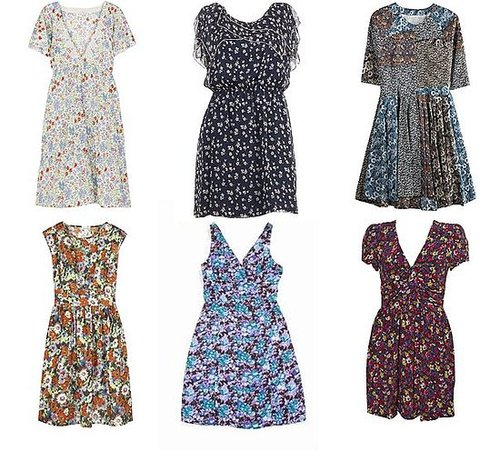 Shopping: Short Floral Tea Dresses For Spring