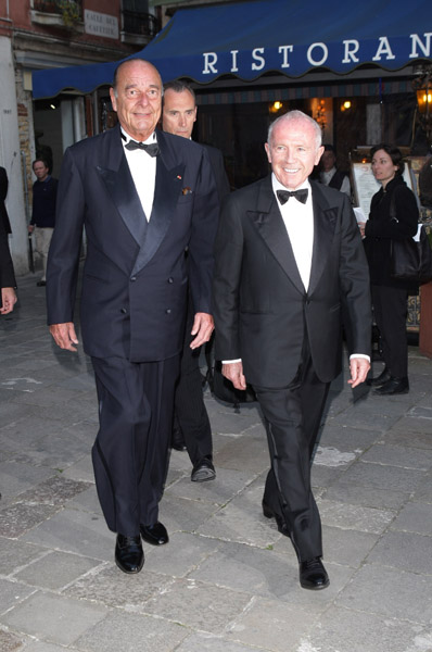 Jacques Chirac and Francois Pinault, Photo by D. Venturelli/Wireimage