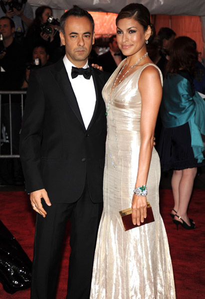 Francisco Costa and Eva Mendes