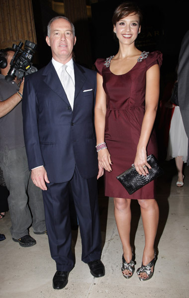 Bulgari CEO Francesco Trapani and actress Jessica Alba