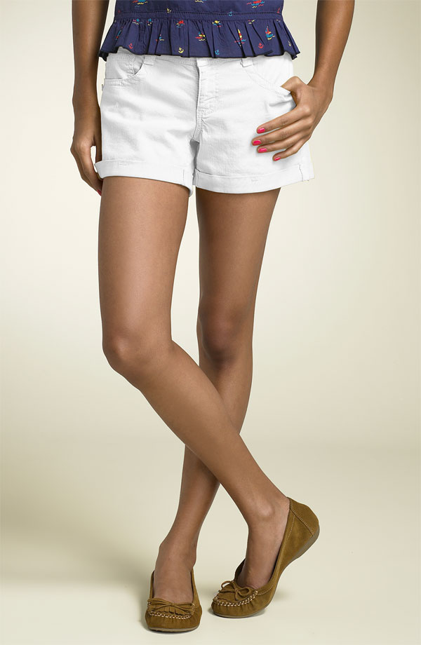 A pair of white cotton shorts...
