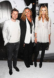 Christopher Bailey, Angela Ahrendts and Lily Donaldson