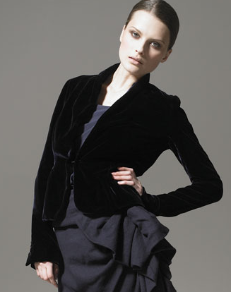 A shawl collar jacket for formal affairs.