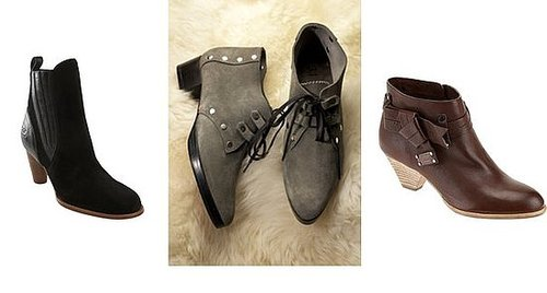 Shopping: Low-Heeled Ankle Boots For Fall