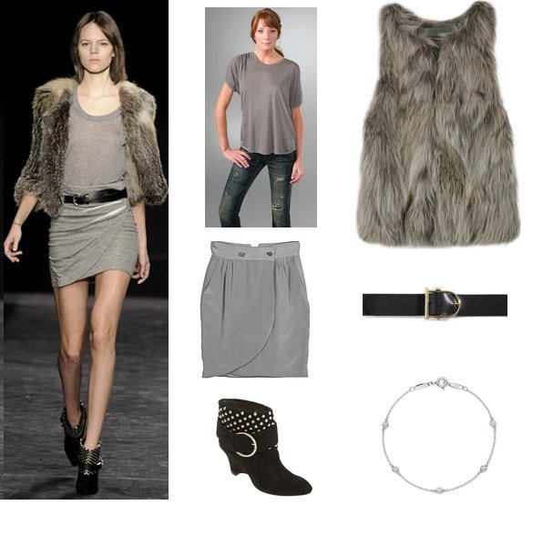 A Look We Love: Gray With a Dash of Fur