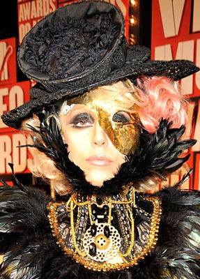 Lady Gaga at the 2009 MTV VMAs