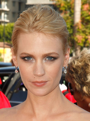 Photo of January Jones at 2009 Primetime Emmy Awards