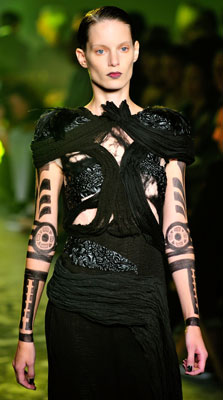 Pictures of MAC's Arm Tattoos at Rodarte at 2010 Spring Fashion Week