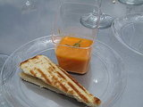 Tomato Bisque With Humboldt Fog Grilled Cheese