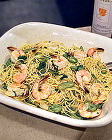 Spaghettini With Shrimp