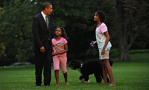 First Dog Bo and the Obamas on Sept. 15