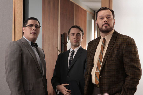Harry Crane, Pete Campbell, and Paul Kinsey